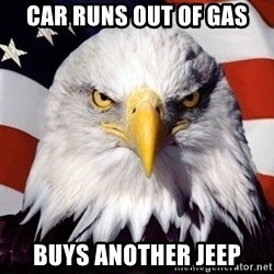 American Pride Eagle - car runs out of gas buys another jeep