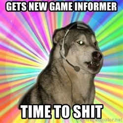 Gamer Dog - GETS NEW GAME INFORMER TIME TO SHIT