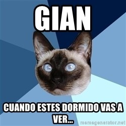 Chronic Illness Cat - gian cuando estes dormido vas a ver...