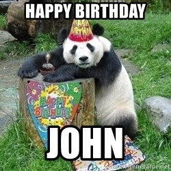 Happy Birthday Panda - HAPPY BIRTHDAY JOHN
