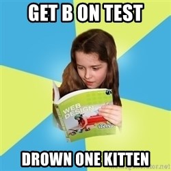 Typical Art Blogger - get b on test drown one kitten