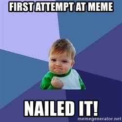 Success Kid - First attempt at Meme nailed it!