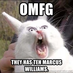 Rabbit On Alert - OMFG They Has TeH MARCUS WILLIAMS.