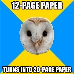 Bipolar Owl - 12-page paper turns into 20-page paper