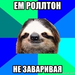 Socially Lazy Sloth - ем роллтон не заваривая