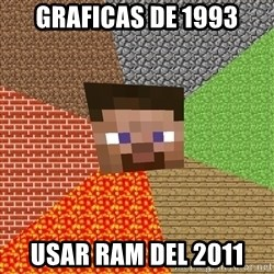 Minecraft Guy - graficas de 1993 usar ram del 2011