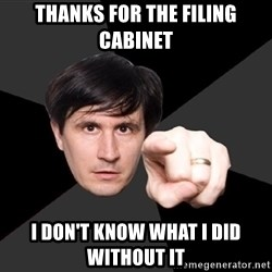 John Darnielle - Thanks for the filing cabinet  I don't know what i did without it