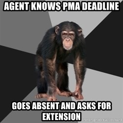 Drunken Monkey - Agent knows PMA deadline goes absent and asks for extension