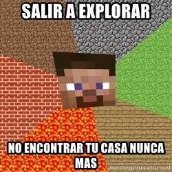 Minecraft Guy - salir a explorar no encontrar tu casa nunca mas