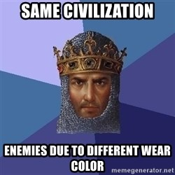Age Of Empires - SAME CIVILIZATION ENEMIES DUE TO DIFFERENT WeaR COLOR