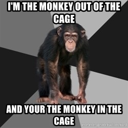 Drunken Monkey - I'm the monkey out of the cage  And your the monkey in the cage
