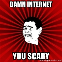 Afraid Yao Ming trollface - damn internet you scary