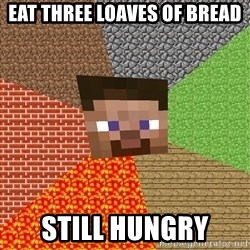 Minecraft Guy - Eat three loaves of bread Still hungry
