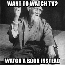 Bad Advice Asian - want to watch tv? watch a book instead