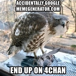Hawkward - accidentally google memegenerator.com end up on 4chan