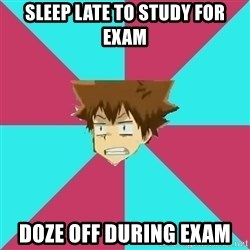 Fail Boss Tsuna - SLEEP LATE TO STUDY for exam Doze off during exam
