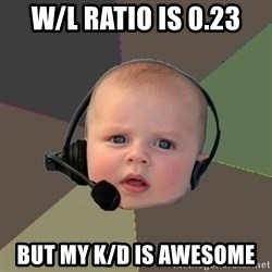 FPS N00b - W/l ratio is 0.23 but my K/d is awesome