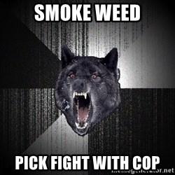 Insanity Wolf - Smoke weed Pick fight with cop