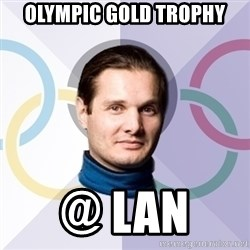 FedinSport - olympic gold trophy @ lan