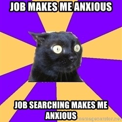 Anxiety Cat - job makes me anxious job searching makes me anxious