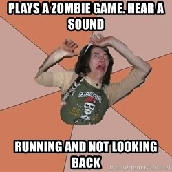 Scared Bekett - Plays a zombie game. hear a sound running and not looking back