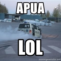 Finnish Police - apua lol