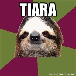 Just-Lazy-Sloth - tiara