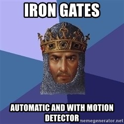 Age Of Empires - IRON GATES Automatic and with motion detector