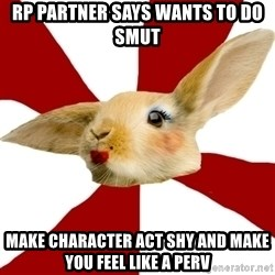 SmutRabbit - RP PARTNER SAYS WANTS TO DO SMUT MAKE CHARACTER ACT SHY AND MAKE YOU FEEL LIKE A PERV