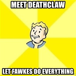 Fallout 3 - MEet deathclaw Let fawkes do everything