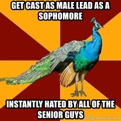 Thespian Peacock - Get Cast as Male lead as a Sophomore Instantly hated by all of the senior Guys