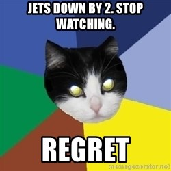 Winnipeg Cat - Jets down by 2. Stop Watching. Regret