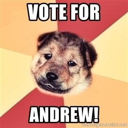 Typical Puppy - Vote for Andrew!
