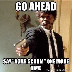"Samuel L Jackson - go ahead say ""agile scrum"" one more time"