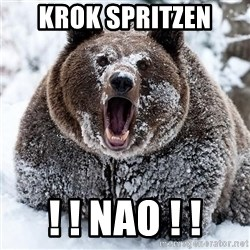 Clean Cocaine Bear - krok spritzen ! ! nao ! !