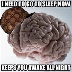 Scumbag Brain - I need to go to sleep now Keeps you awake all night