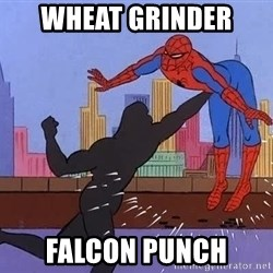 crotch punch spiderman - Wheat Grinder  Falcon punch