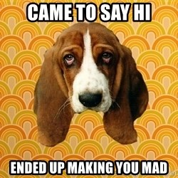 SAD DOG - Came to say Hi Ended up making you mad