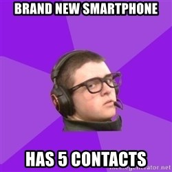 Virgin Gamer - Brand new smartphone has 5 contacts