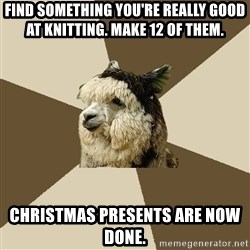 Fyeahknittingalpaca - Find something you're really good at knitting. make 12 of them. christmas presents are now done.