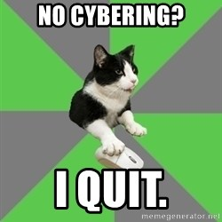 roleplayercat - No cybering? i quit.