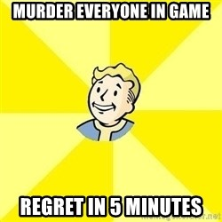 Fallout 3 - Murder everyone in game regret in 5 minutes