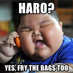 Fat Asian Kid - Haro? Yes, Fry the bags too