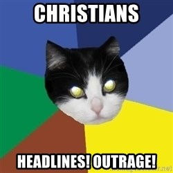 Winnipeg Cat - christians Headlines! Outrage!