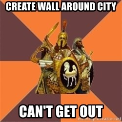 Age of Empires '97 - create wall around city can't get out