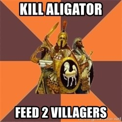 Age of Empires '97 - kill aligator feed 2 villagers