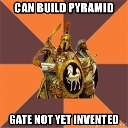 Age of Empires '97 - can build pyramid gate not yet invented