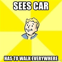 Fallout 3 - sees car has to walk everywhere