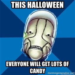 Hopeful St Walker - This halloween everyone will get lots of candy