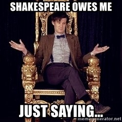 Hipster Doctor Who - shakespeare owes me just saying...